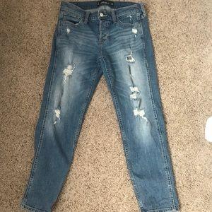 Hollister Ripped Boyfriend Jeans